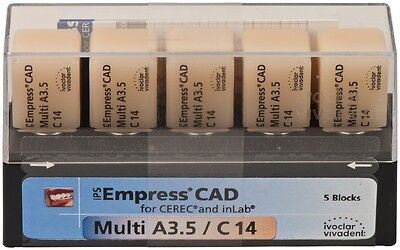 Cerec Ivoclar Vivadent Ips Empress Cad Multi Blocks Shade A3.5 C14 5pk