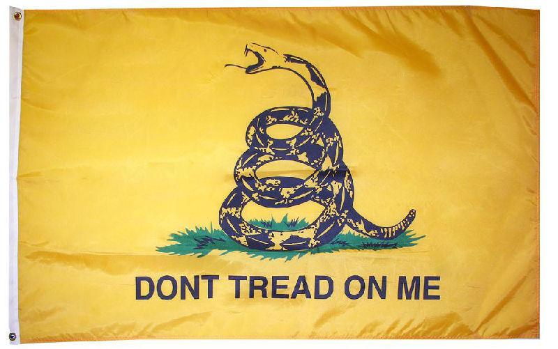 new 3x5ft YELLOW GADSDEN GADSEN FLAG USA SELLER premium quality