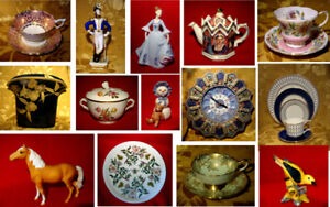 Huge selection of vintage china, figurines, collectibles & more