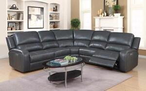 Black or Grey - Upholstery : Leather AIR with Power Recliner
