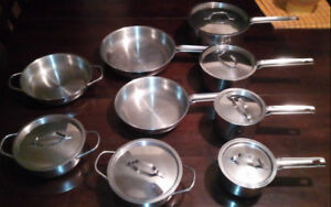 15-Piece Paderno Professional Cookware Lot