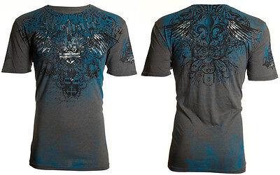 Archaic AFFLICTION Mens T-Shirt AVIATION Wings Tattoo Biker MMA L-4XL -