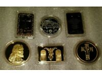 CHRISTIAN COINS X 6. GOLD CLADDED