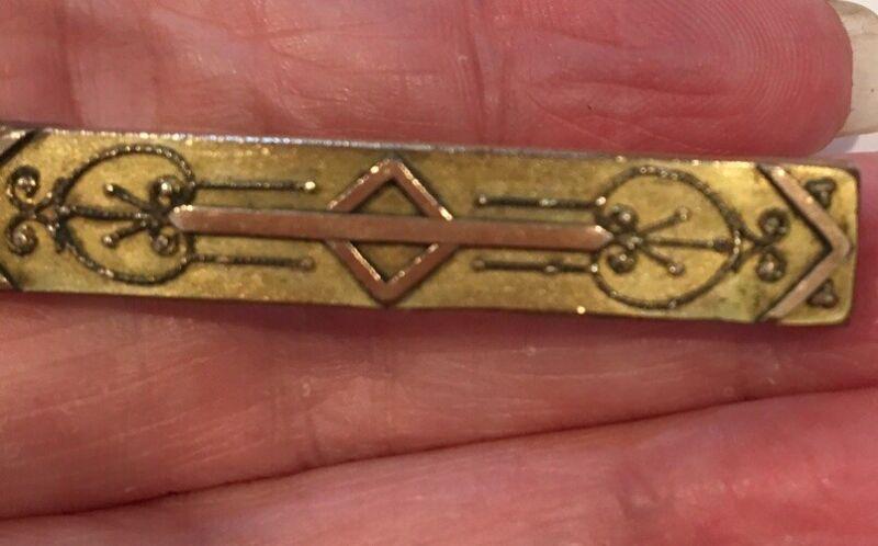 SENSATIONAL ANTIQUE GOLD FILLED VICTORIAN BAR BROOCH NEEDING A CLASP-GREAT DESIG