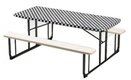Creative Converting Plastic Stay Put Banquet Table Cover, 30