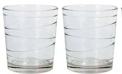 12x Cocktail whisky drinking glasses tumblers highball ALIAN lacey 360ml