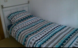 Double and Single bed frame with Memory Foam Mattress included
