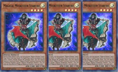 Yugioh Magical Musketeer Starfire X3 Ultra Rare DUOV 1st Edition Mint Playset