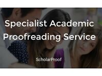 Specialist Academic Proofreading Service