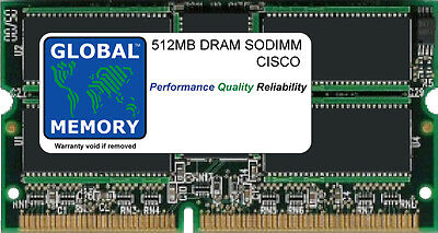 512MB DRAM sodimm ram pour Cisco 7200 Série routeurs npe-400 (mem-npe-400-512mb)