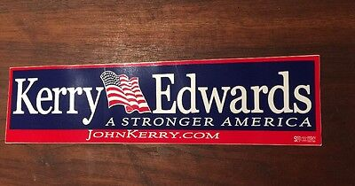 Official Kerry Edwards 2004 Presidential Campaign Memorabilia Bumper (Presidential Campaign Memorabilia)