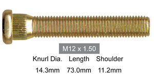 LONG-WHEEL-STUD-12mm-x-1-5mm-COMMODORE-MITSUBISHI-TOYOTA-73mm-part-S3400