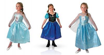 Disney Eiskönigin Princess Anna Elsa Mädchen Kostüm Party Deluxe Kostüm - Deluxe Eis Prinzessin Kostüm