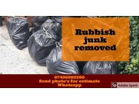 One stop Rubbish junk removal fast response, cheaper than a skip.