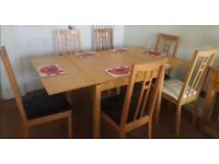 Ikea Oak Bjursta Extending Table 90-169cm & 7 Aaron Chairs FREE DELIVERY 975