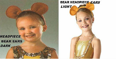 Animal Ears Headband Dance Costume Dandy Lion King Bear Mouse Light or - Lion Ears Headband