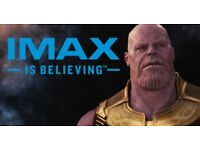 2 Infinity War Imax tickets at the BFI London (26/04 - 10am)