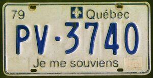 License du Quebec, immatriculation recherché, lettres spécial