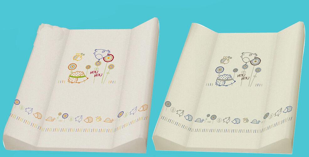 """ASMi® Baby Wickelauflage 2-Keil Wickelmulde Folie Auflage  50 x70 cm """"Flowers"""""""