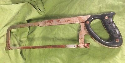 "VINTAGE Heavy Duty Great Neck HACK SAW - 12"" Blade for sale  Defiance"