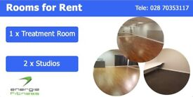 Rooms to Rent- Two Studios and One Treatment Room