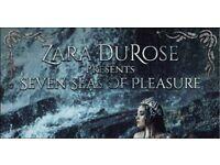 Zara DuRose at Scala Couples ticket (2 adults)    Seven Seas Of Pleasure