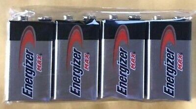 4 Energizer Max 9V 9 Volt 522 Alkaline Batteries  Exp.12/2026