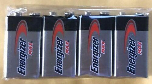 4 Energizer Max 9V 9 Volt 522 Alkaline Batteries