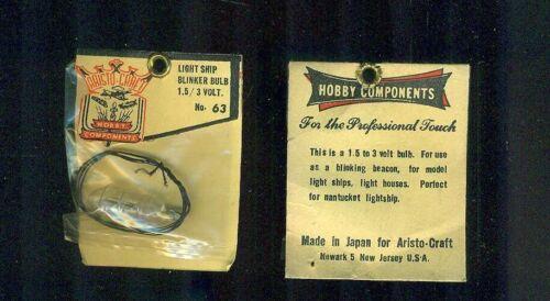 (6) Vintage Aristo-Craft #63 Light Ship BLINKER BULB 1.5/3 Volt UNUSED Japan nos