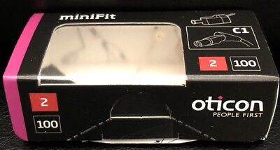 Oticon Minifit Hearing Aid Speaker. High Power 100dB. Right Ear, Size 2 Receiver