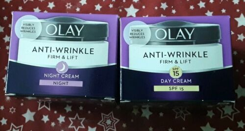 2x Olay anti wrinkle firm & lift SPF 15 - Day Cream  and firm & lift Night cream