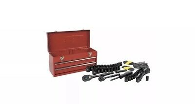 STANLEY STMT81564 101-Piece Universal Mechanics Tool Set with Metal Tool Box 101 Piece Tool Set