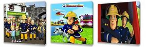 Fireman Sam II set of Three Wall / Plaques canvas pictures