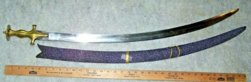 INDIAN TALWAR SWORD & SCABBARD, 1880-1900 *NICE*