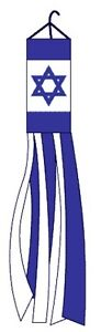 60-ISRAEL-COLUMN-WINDSOCK-FLAG-OUTDOOR-INDOOR-PATRIOTIC-HEBREW-JEWISH-5-FEET