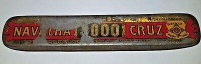 VINTAGE TIN GUNTHER'S NAVALHA CRUZ STRAIGHT RAZOR TIN (NO RAZOR) comprar usado  Enviando para Brazil