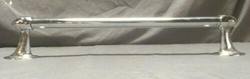 """Vintage 20"""" Chrome Bullet End Towel Bar Art Deco  130-19L"""