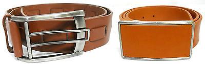 Mens Tristan   Terra Nostra Brown Genuine Leather Belt Size 30 32 34 36 38 40