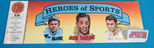 Vintage 1984 Heroes of Sports Comics Will Eisner Pacific Comics