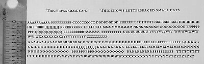 New Letterpress Type - 12 Point Bembo Small Caps With Letter Spaced Version