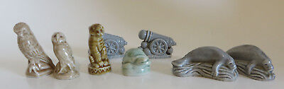Lot of Wade Whimsies Red Rose Tea Porcelain Figurines Manatee Cannon Tiger Hawk  for sale  Bel Air