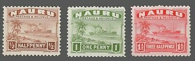 Nauru #17-19 MLH   Part-Set  'Firefighter'   1924-34   F/VF