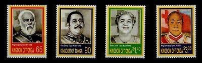 TONGA, SCOTT # 1138-1141, SET OF 4 ROYALTY, KINGS GEORGE TUPOU & QUEEN, MNH