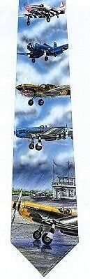 Fighter Wwii Aircraft - SPECIAL SALE WWII FIGHTER AIRCRAFT P-40/P-51/F4U TIE-NEW-MADE IN USA-$1 S/H