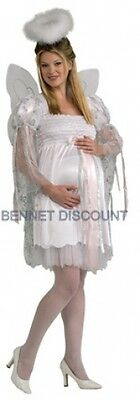MATERNITY ANGEL HALLOWEEN DRESS UP COSTUME MOTHER TO BE REDUCED TO CLEAR