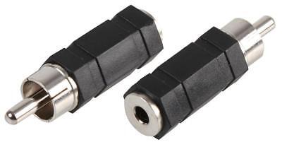 AuX 3.5mm Stereo Jack Female Socket to Single RCA Phono Plug Converter Adapter