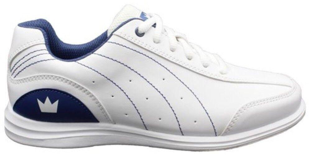 Womens Brunswick WIDE MYSTIC Bowling Ball Shoes White/Navy S