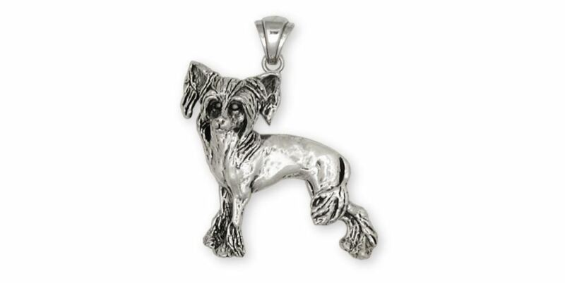 Chinese Crested Pendant Jewelry Sterling Silver Handmade Dog Pendant CC2-P
