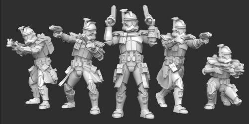 Star Wars Legion - ARC Trooper Squad (5) 3D Resin Printed Unit