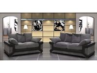 **FREE DELIVERY** HIGH QUALITY 3 + 2 SEATER FABRIC SOFA SUITES ALSO AVAILABLE IN CORNER SETTEE